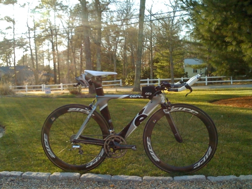 Cervelo P2c ready for take off