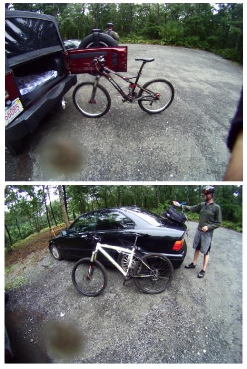 Muddy bikes...