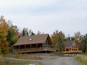 Cabins at one of our resorts