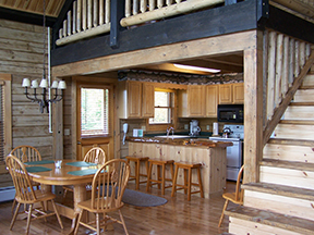 Cabin interior at one of our resorts