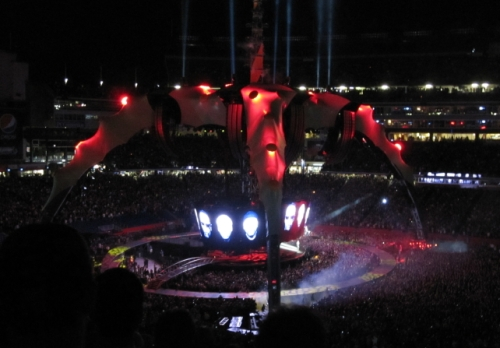 During the U2 Concert...