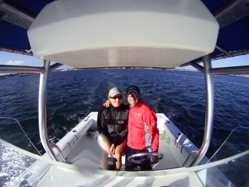 Boating with Iron Chick...