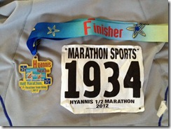 Hyannis Half 2012 finish