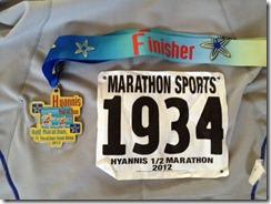 Hyannis Half 2012 finish